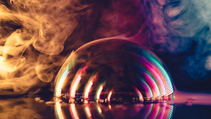 Bubble Smoke Colorful Creative Photo
