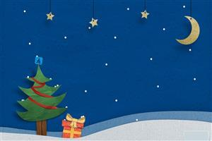 Creative Nice Wide Christmas Trees and Gift Wallpaper