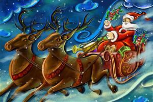 Creative Santa Clause Art Wallpaperd