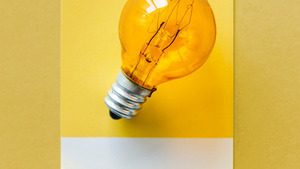 Yellow Bulb Creative Background HD Wallpaper
