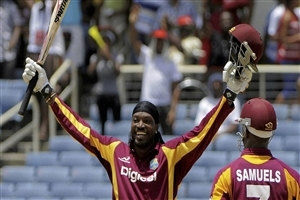 Chris Gayle West Indies Cricket Player Celebrates after Make 100 Wallpaper