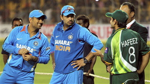 Dhoni and Yuvraj on Ground Cricketer Photo