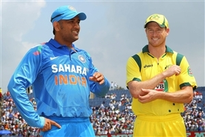 George Bailey and MS Dhoni Cricket Captain in Worldcup 2015 Wallpapers