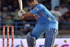 Mahendra Singh Dhoni Hit Helicaptor Shot in One Day Cricket Match Wallpapers