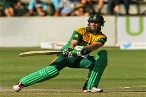 Popular South African Batsman AB de Villiers Cricketer on Match Photo
