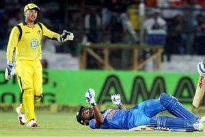 Rohit Sharma down on Ground Image
