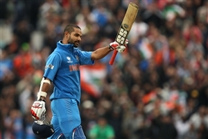 Shikhar Dhawan Indian Cricketer Up the Bat Wallpapers