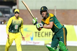 South African Batsman Faf Du Plessis Cricket Game Wallpaper