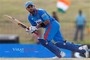 Virat Kohli Play Best Shot in Cricket Match Wallpapers