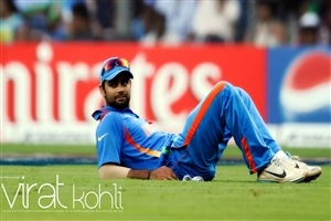 Virat Kohli on Grounds during Match India International Cricket Photos