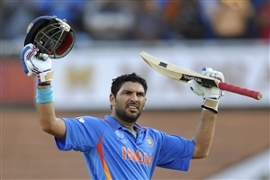 Yuvraj Singh Indian Cricket Player after Century in One Day International Match Wallpapers