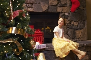 Beautiful Baby on Christmas Holiday Photos