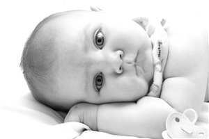 Beautiful White Small Littel Baby CloseUp HD Image
