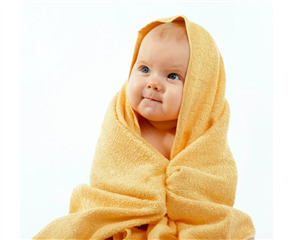 Cute Baby Boy in Towel Photo