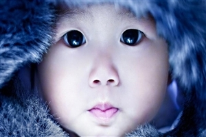 Cute Baby Close Up Face