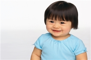 Cute Baby in Different Hait Style Wallpaper