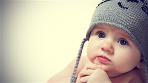 Cute Baby with Winter Cap Pic