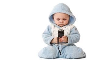 Cute Boy With Mobile