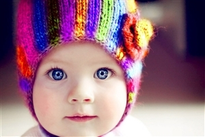 Cute Colorful Baby with Blue Eye Wallpapers