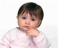Cute Little Baby Eanjoying to Eat Her Finger HD Photo