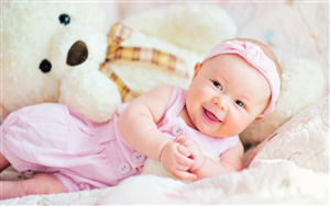 Cute Pink Baby Girl HD Wallpaper