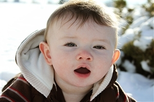 Nice Cute White Baby Boy Closup Wallpapers
