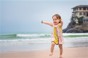 Pretty Good Baby Playing at Beach HD Wallpapers