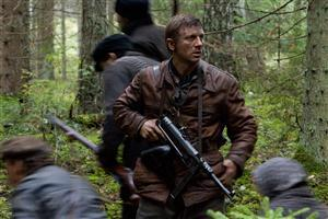 Daniel Craig in Forest with Gun