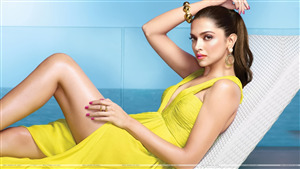 Bewitching Deepika Padukone in Yellow Dress Hot Wallpaper