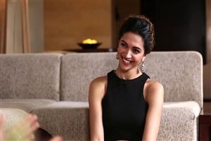 Cute Smile of Deepika Padukone in Black Dress