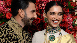 Deepika Padukone and Ranveer Singh Reception Pic