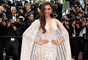 Deepika Padukone in Transparent Dress Cannes 2018 HD Wallpaper
