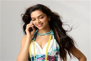 Deepika Padukone on Phone