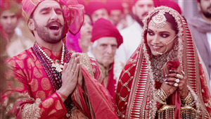 Deepika Padukone with Ranveer Singh Marrige Photo