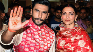 First Look of Ranveer Singh with Deepika Padukone After Marrige