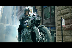 Aamir Khan on BMW Bike in Bollywood Hindi Dhoom 3 Movie