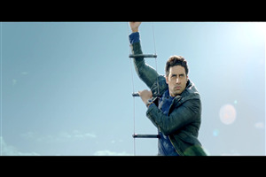 Abhishek Bachchan in Helicopter Dhoom 3