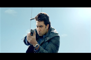 Abhishek Bachchan with Gun in Dhoom 3 Movie