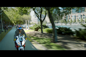 Uday Chopra on Bike in Dhoom 3 Bollywood Movie Wallpapers