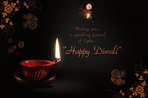 Beautiful Happy Diwali Wish HD Desktop Wallpapers Download