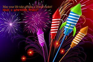 Diwali Crackers with Greetings Wallpaper