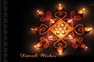 Diwali Wallpapers with Beautiful Lamp Rangoli