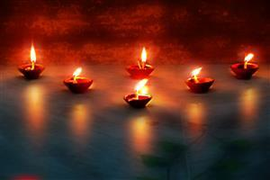 Happy Deepavali Lamp Decoration Wallpapers