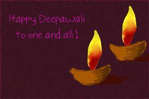 Happy Deepavali to One and All Greetings Wallpapers
