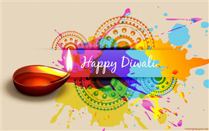 Happy Diwali Colorful Diya Wallpapers