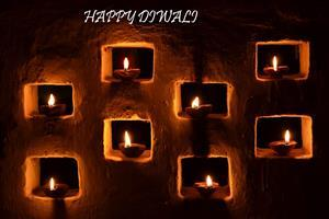 Happy Diwali Lamps in Wall Photos