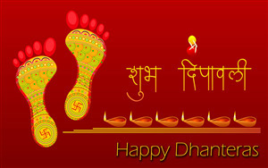 Subh Dipawali and Happy Dhanteras 4K Wallpaper