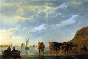 Village Drawing Photo Paint By Aelbert Cuyp