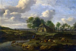 Amazing Village National Gallery of London Paintings Wallpapers