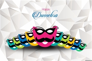 Happy Dussehra Festival of India HD Desktop Background Wallpaper